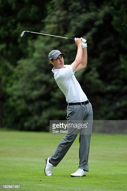 Patrick Cantlay hits a shot to the third green during the third round of the Colombia Championship at Country Club de Bogota on March 2 2013 in...