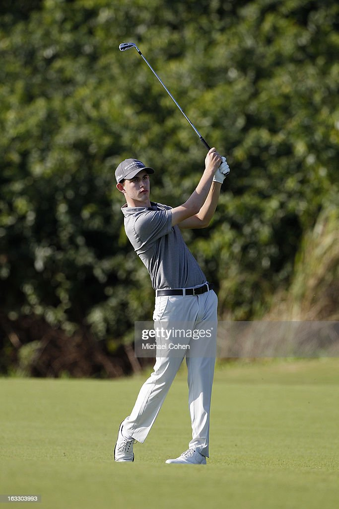 <a gi-track='captionPersonalityLinkClicked' href=/galleries/search?phrase=Patrick+Cantlay&family=editorial&specificpeople=7036378 ng-click='$event.stopPropagation()'>Patrick Cantlay</a> hits his second shot on the 12th hole during the first round of the Puerto Rico Open presented by seepuertorico.com held at Trump International Golf Club on March 7, 2013 in Rio Grande, Puerto Rico.