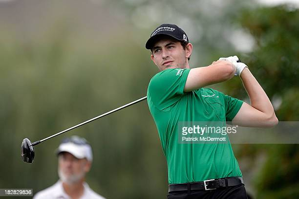 Patrick Cantlay hits his tee shot on the fifth hole during the final round of the 2013 Hotel Fitness Championship at Sycamore Hills Golf Club on...