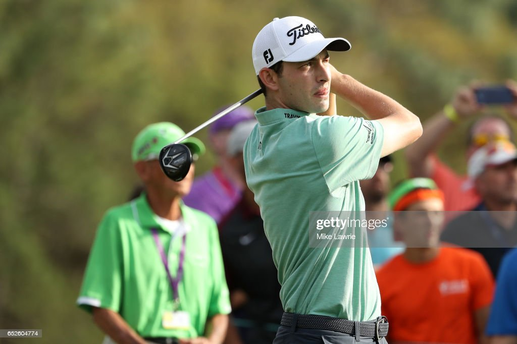 Patrick Cantlay hits off the 18th tee during the final round of the Valspar Championship at Innisbrook Resort Copperhead Course on March 12, 2017 in Palm Harbor, Florida.