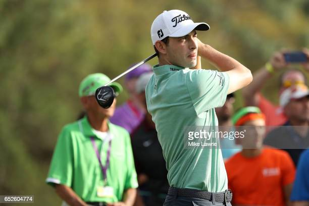 Patrick Cantlay hits off the 18th tee during the final round of the Valspar Championship at Innisbrook Resort Copperhead Course on March 12 2017 in...