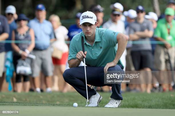 Patrick Cantlay putts on the 17th green during the final round of the Valspar Championship at Innisbrook Resort Copperhead Course on March 12 2017 in...