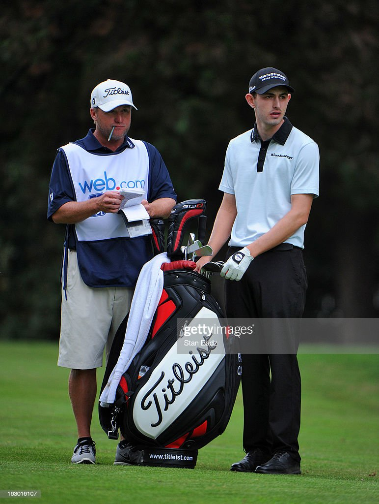 Patrick Cantlay selects a club to hit on the third hole during the final round of the Colombia Championship at Country Club de Bogota on March 3, 2013 in Bogota, Colombia.