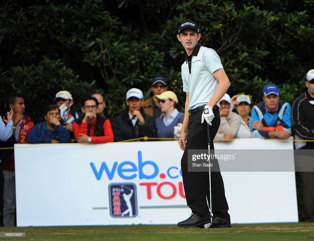 Patrick Cantlay watches his tee shot on the 16th hole during the final round of the Colombia Championship at Country Club de Bogota on March 3, 2013 in Bogota, Colombia.
