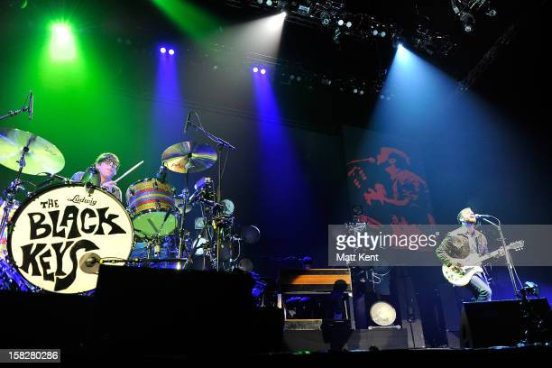 Patrick Carney and Dan Auerbach of The Black Keys perform at the 02 Arena on December 12 2012 in London England
