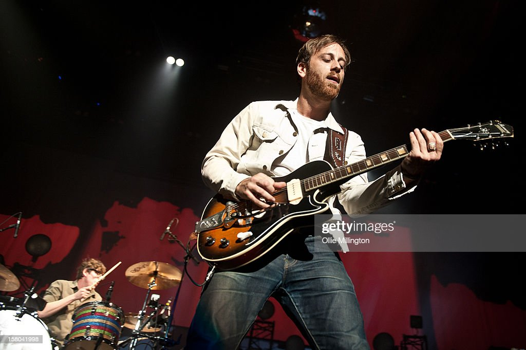 Patrick Carney and Dan Auerbach of The Black Keys perform during the bands 2012 winter European Arena tour at NIA Arena on December 9, 2012 in Birmingham, England.