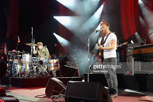 Patrick Carney and Dan Auerbach of The Black Keys perform onstage at the The Global Citizen Festival in Central Park to end extreme poverty Show at...