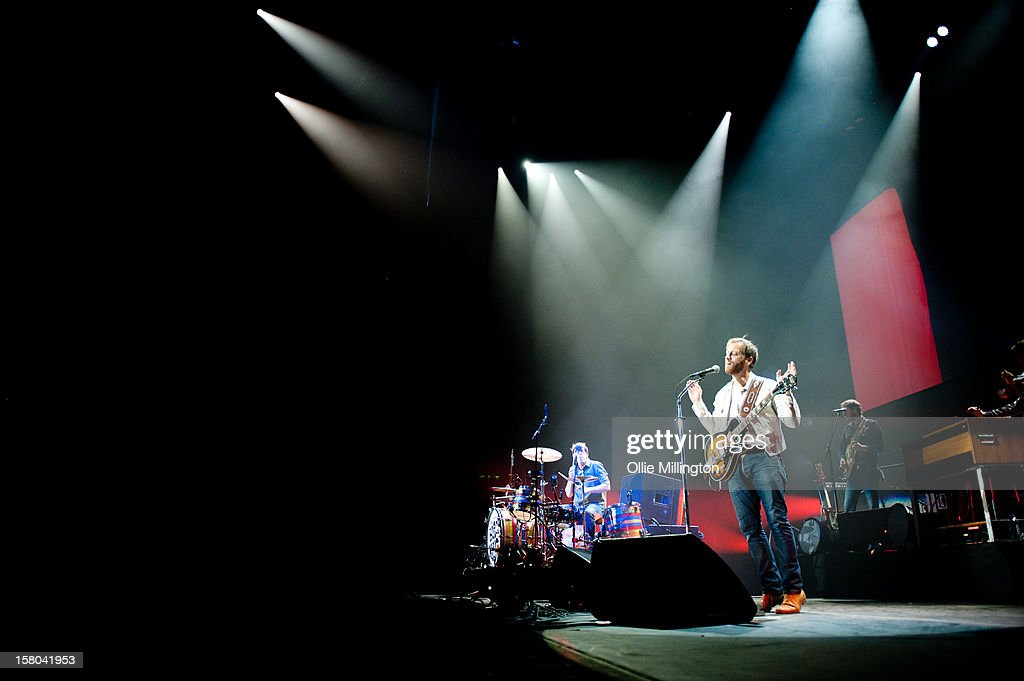 Patrick Carney and Dan Auerbach of The Black Keys performs during the bands 2012 winter European Arena tour at NIA Arena on December 9, 2012 in Birmingham, England.