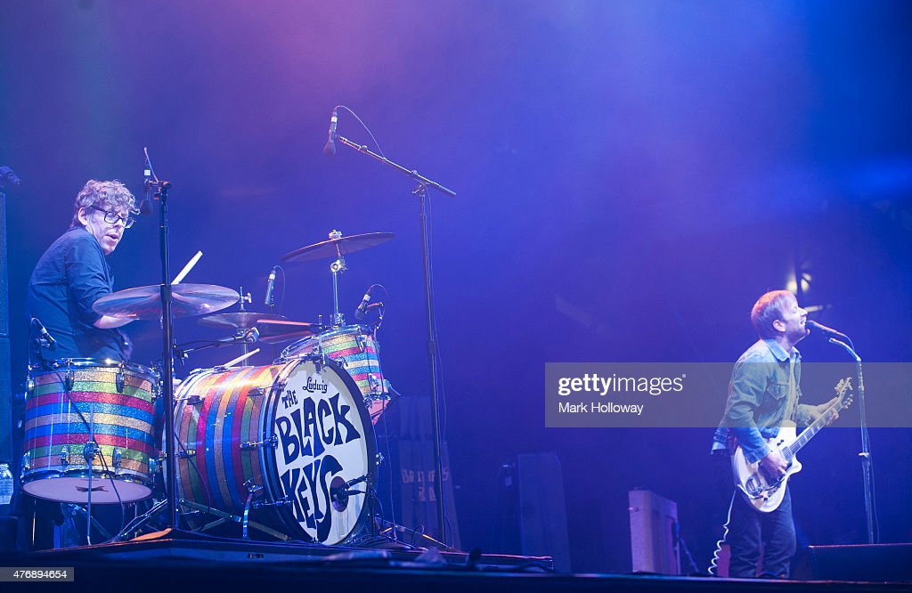 Patrick Carney and Dan Auerdach of the Black Keys perform at Isle Of Wight Festival at Seaclose Park on June 12 2015 in Newport United Kingdom