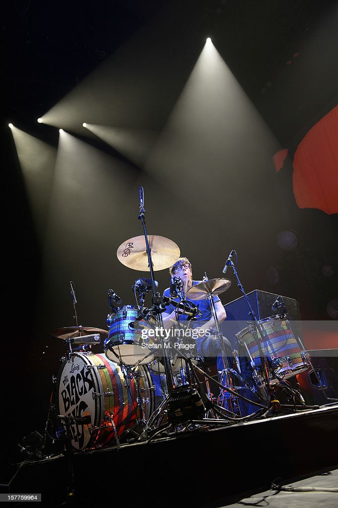 Patrick Carney of The Black Keys performs at Olympiahalle on December 4, 2012 in Munich, Germany.