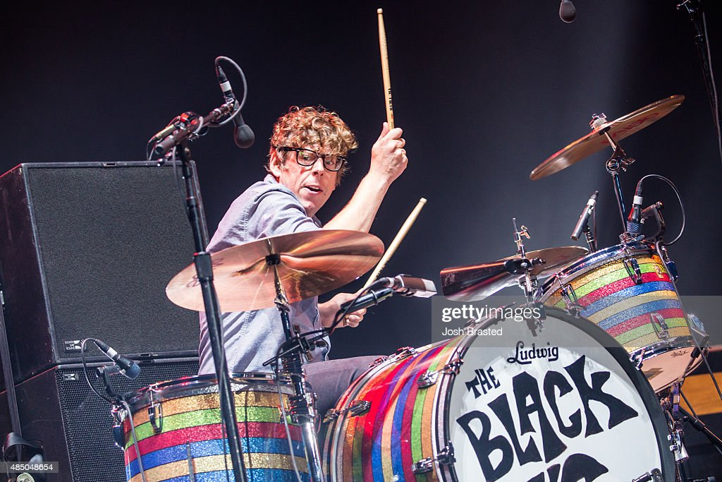 <a gi-track='captionPersonalityLinkClicked' href=/galleries/search?phrase=Patrick+Carney&family=editorial&specificpeople=2234034 ng-click='$event.stopPropagation()'>Patrick Carney</a> of The Black Keys performs during Outside Lands Music & Arts Festival at Golden Gate Park on August 8, 2015 in San Francisco, California.
