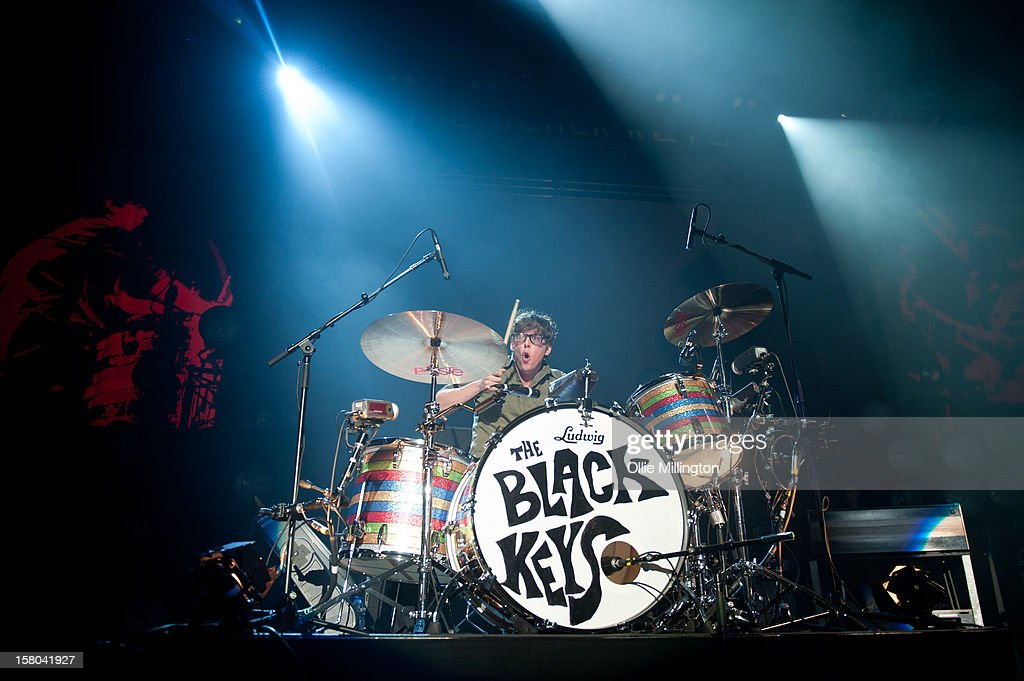 Patrick Carney of The Black Keys performs during the bands 2012 winter European Arena tour at NIA Arena on December 9, 2012 in Birmingham, England.