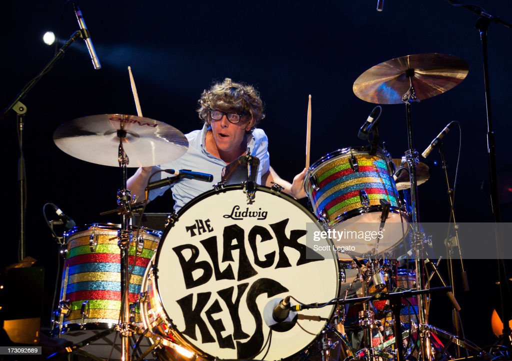 <a gi-track='captionPersonalityLinkClicked' href=/galleries/search?phrase=Patrick+Carney&family=editorial&specificpeople=2234034 ng-click='$event.stopPropagation()'>Patrick Carney</a> of The Black Keys performs during the Quebec Festival D'ete on July 6, 2013 in Quebec City, Canada.
