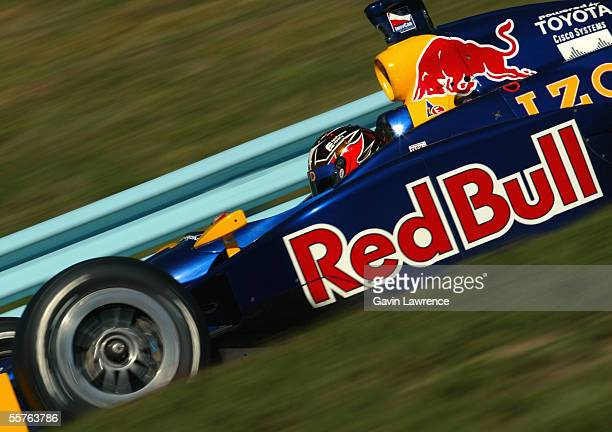 Patrick Carpentier driver of the Red Bull Cheever Racing Dallara Toyota during practice for the Indy Racing League IndyCar Series Inaugural Watkins...