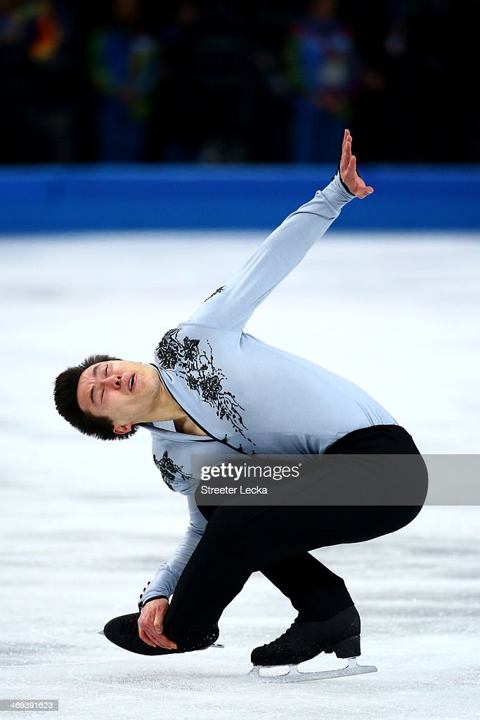 Patrick Chan of Canada competes during the Figure Skating Men's Free Skating on day seven of the Sochi 2014 Winter Olympics at Iceberg Skating Palace on February 14, 2014 in Sochi, Russia.