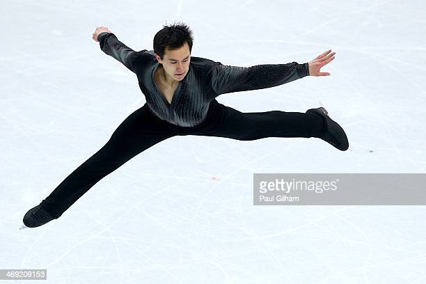 Patrick Chan of Canada competes during the Men's Figure Skating Short Program on day 6 of the Sochi 2014 Winter Olympics at the at Iceberg Skating...
