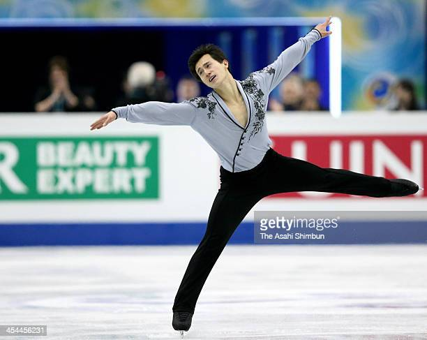 Patrick Chan of Canada competes in the Men's free program during the ISU Grand Prix of Figure Skating Final at Marine Messe Fukuoka on December 6...