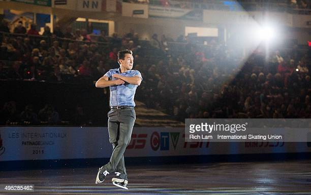 Patrick Chan of Canada jumps during the Exhibition Gala on day three of Skate Canada International ISU Grand Prix of Figure Skating November 2015 at...