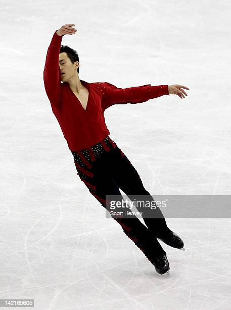 Patrick Chan of Canada performs during day six of the ISU World Figure Skating Championships on March 31 2012 in Nice France
