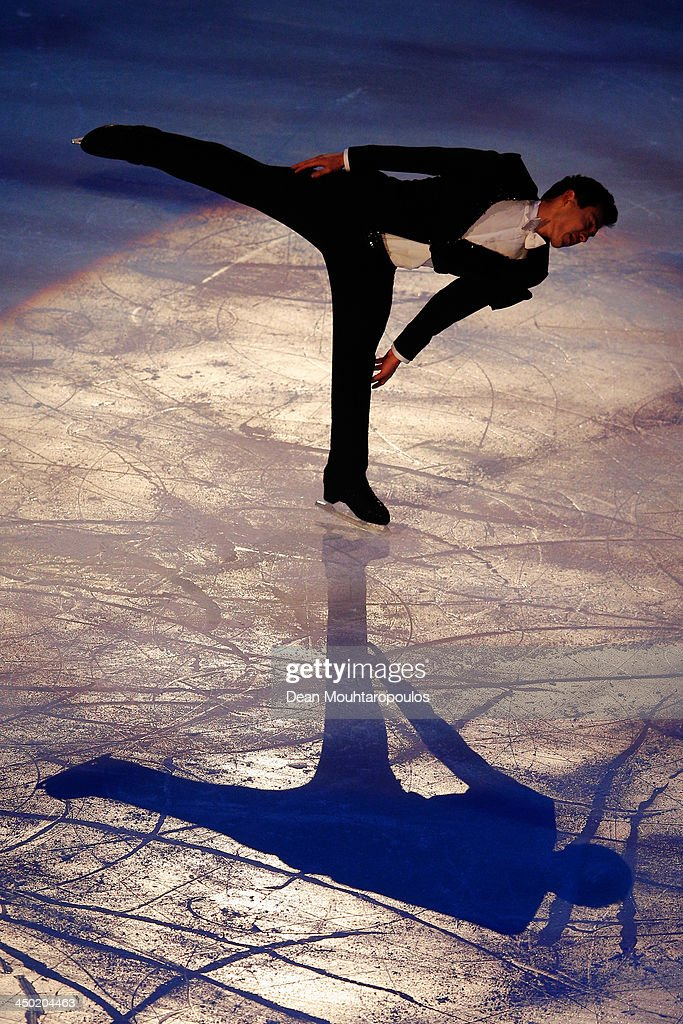 <a gi-track='captionPersonalityLinkClicked' href=/galleries/search?phrase=Patrick+Chan&family=editorial&specificpeople=4036503 ng-click='$event.stopPropagation()'>Patrick Chan</a> of Canada performs during in the Gala Exhibition on day three of Trophee Eric Bompard ISU Grand Prix of Figure Skating 2013/2014 at the Palais Omnisports de Bercy on November 17, 2013 in Paris, France.