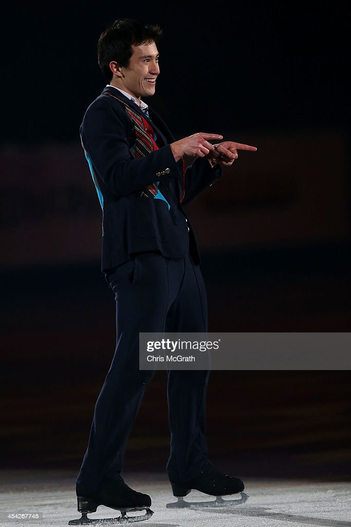 <a gi-track='captionPersonalityLinkClicked' href=/galleries/search?phrase=Patrick+Chan&family=editorial&specificpeople=4036503 ng-click='$event.stopPropagation()'>Patrick Chan</a> of Canada performs his routine in the ISU Gala during day four of the ISU Grand Prix of Figure Skating Final 2013/2014 at Marine Messe Fukuoka on December 8, 2013 in Fukuoka, Japan.