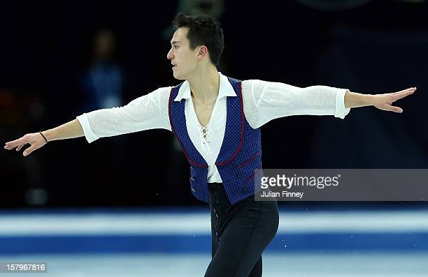 Patrick Chan of Canada performs in the Mens Free Skating during the Grand Prix of Figure Skating Final 2012 at the Iceberg Skating Palace on December...