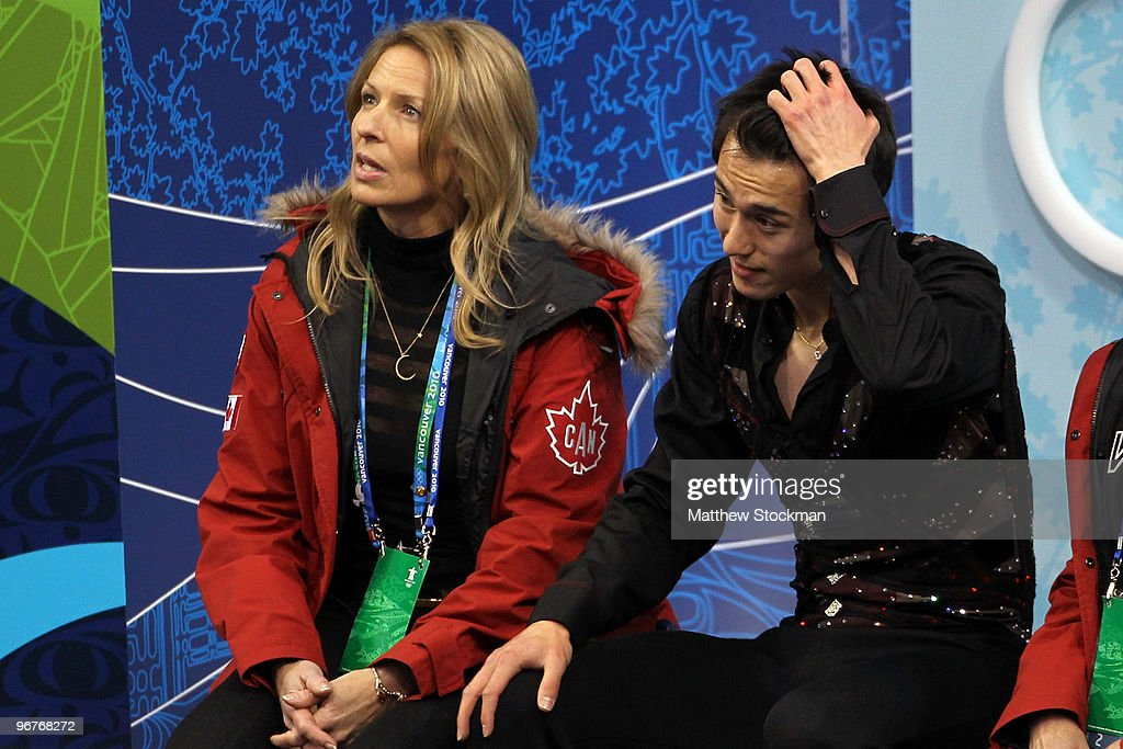 <a gi-track='captionPersonalityLinkClicked' href=/galleries/search?phrase=Patrick+Chan&family=editorial&specificpeople=4036503 ng-click='$event.stopPropagation()'>Patrick Chan</a> of Canada reacts after his routine in the men's figure skating short program on day 5 of the Vancouver 2010 Winter Olympics at the Pacific Coliseum on February 16, 2010 in Vancouver, Canada.