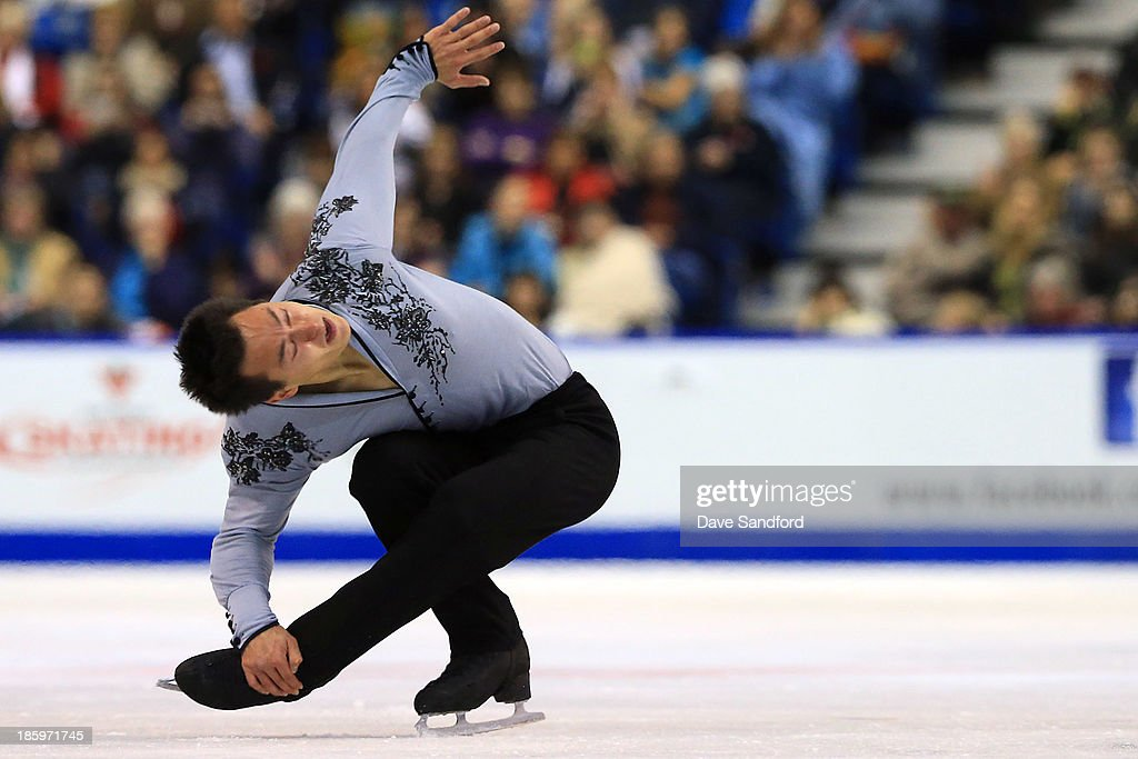 Patrick Chan of Canada skates during the men's free program on day two at the ISU GP 2013 Skate Canada International at Harbour Station on October 26, 2013 in Saint John, New Brunswick, Canada.