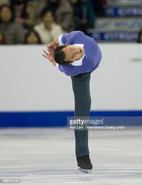 Patrick Chan of Canada skates during the Men's Short Program on day one of Skate Canada International ISU Grand Prix of Figure Skating on October 30...