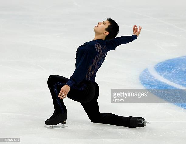 Patrick Chan of Canada skates in the Men Short Program during ISU Rostelecom Cup of Figure Skating 2012 at the Megasport Sports Center on November 9...