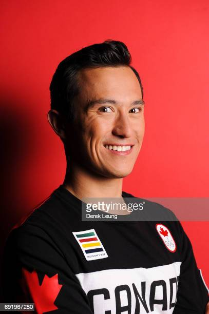 Patrick Chan poses for a portrait during the Canadian Olympic Committee Portrait Shoot on June 3 2017 in Calgary Alberta Canada