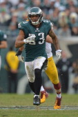 Patrick Chung of the Philadelphia Eagles runs against the Washington Redskins at Lincoln Financial Field on November 17 2013 in Philadelphia...