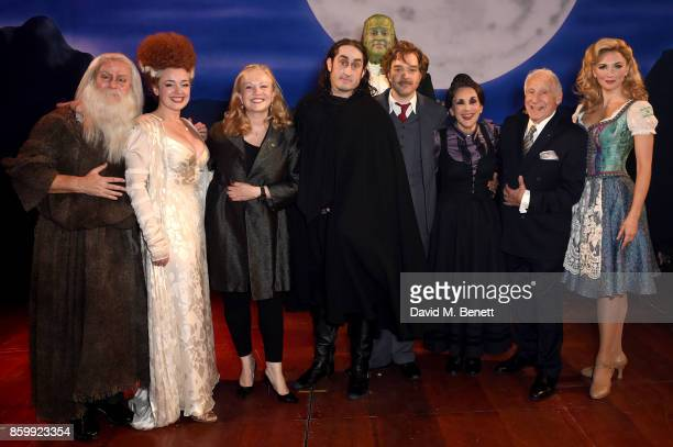 Patrick Clancy Dianne Pilkington Susan Stroman Ross Noble Shuler Hensley Hadley Fraser Lesley Joseph Mel Brookes and Summer Strallen attend the press...
