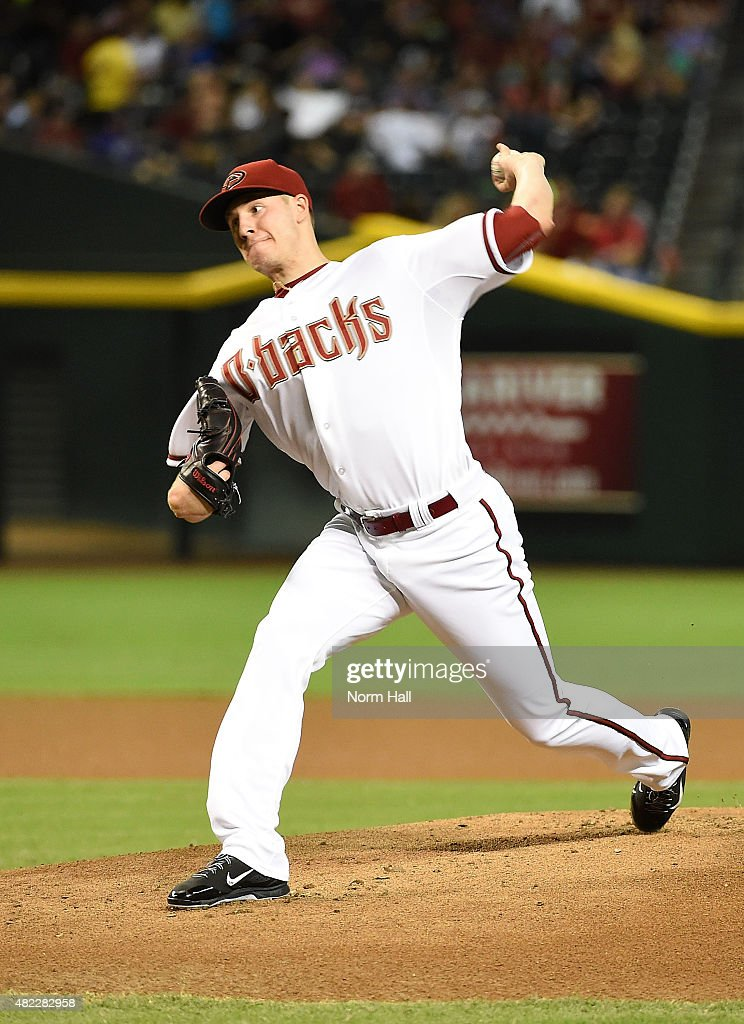 Patrick Corbin of the Arizona Diamondbacks delivers a pitch against the Milwaukee Brewers at Chase Field on July 24 2015 in Phoenix Arizona