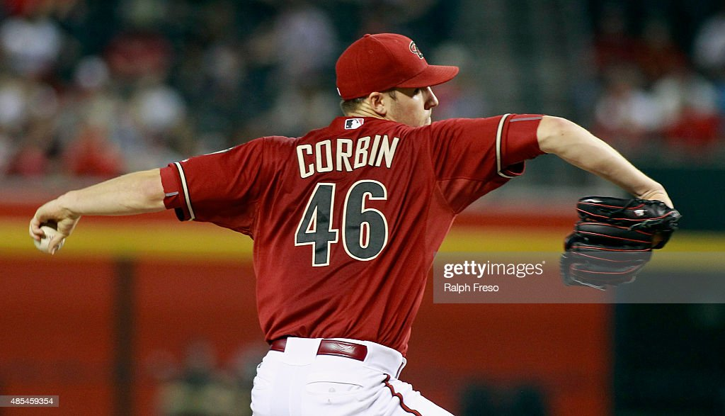 Patrick Corbin of the Arizona Diamondbacks delivers a pitch against the St Louis Cardinals during the second inning of a MLB game at Chase Field on...