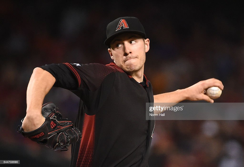 Patrick Corbin of the Arizona Diamondbacks delivers a pitch during the first inning against the San Francisco Giants at Chase Field on July 2 2016 in...