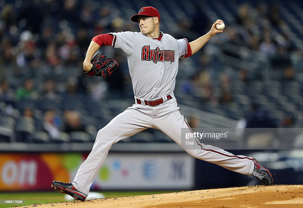Patrick Corbin #46 of the Arizona Diamondbacks delivers a pitch in the first inning against the New York Yankees on April 18, 2013 at Yankee Stadium in the Bronx borough of New York City.