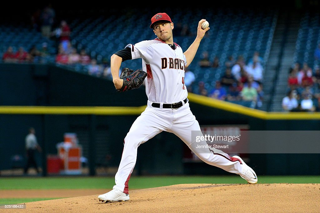 Patrick Corbin of the Arizona Diamondbacks delivers a pitch in the first inning against the St Louis Cardinals at Chase Field on April 27 2016 in...