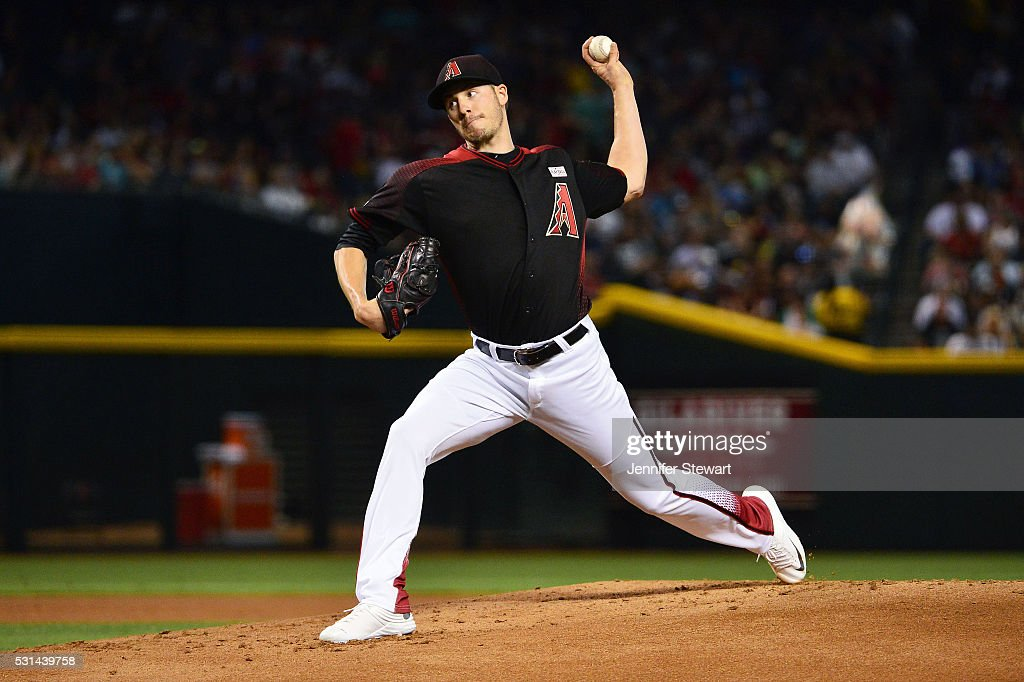 Patrick Corbin of the Arizona Diamondbacks delivers a pitch in the first inning against the San Francisco Giants at Chase Field on May 14 2016 in...
