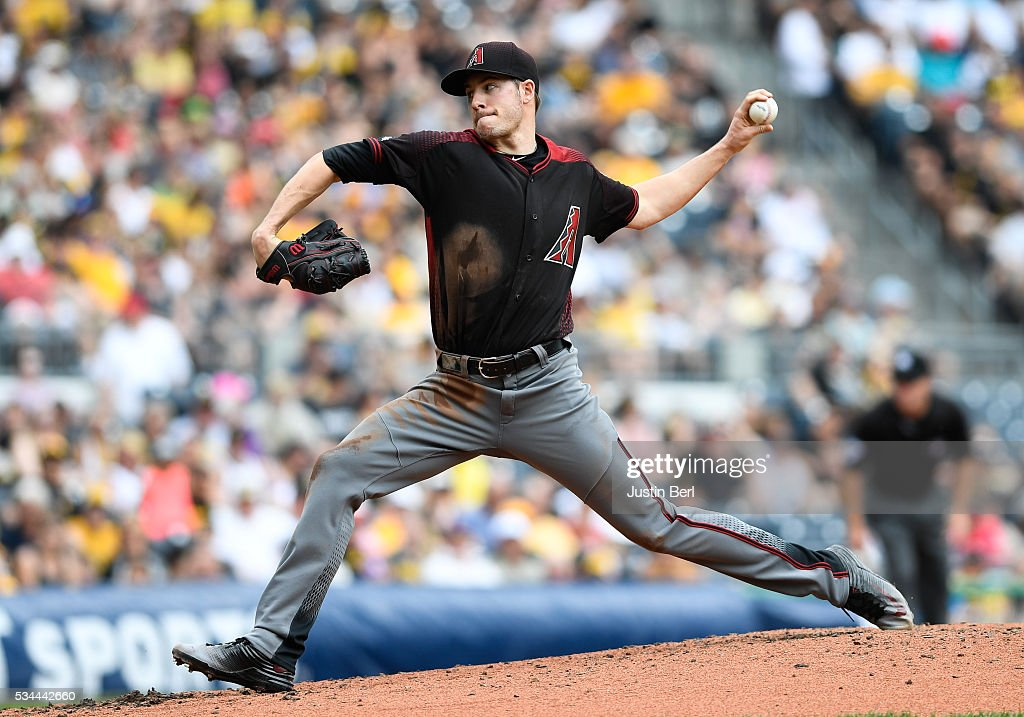 Patrick Corbin of the Arizona Diamondbacks delivers a pitch in the second inning during the game against the Pittsburgh Pirates at PNC Park on May 26...