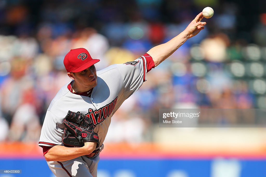 Patrick Corbin of the Arizona Diamondbacks pitches against the New York Mets in the first inning at Citi Field on July 11 2015 in Flushing...