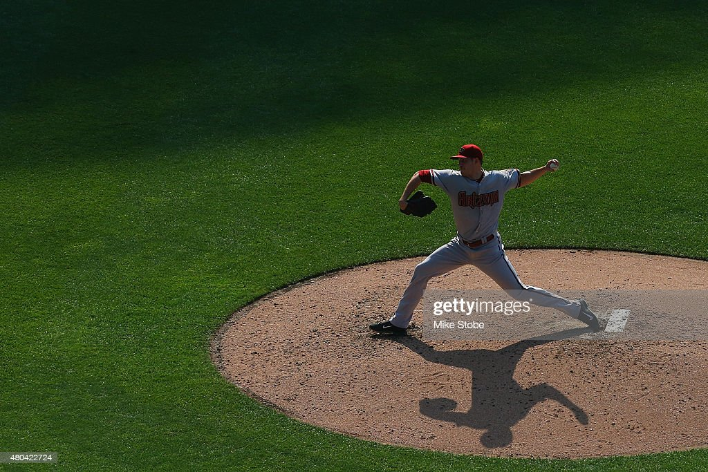 Patrick Corbin of the Arizona Diamondbacks pitches against the New York Mets at Citi Field on July 11 2015 in Flushing neighborhood of the Queens...