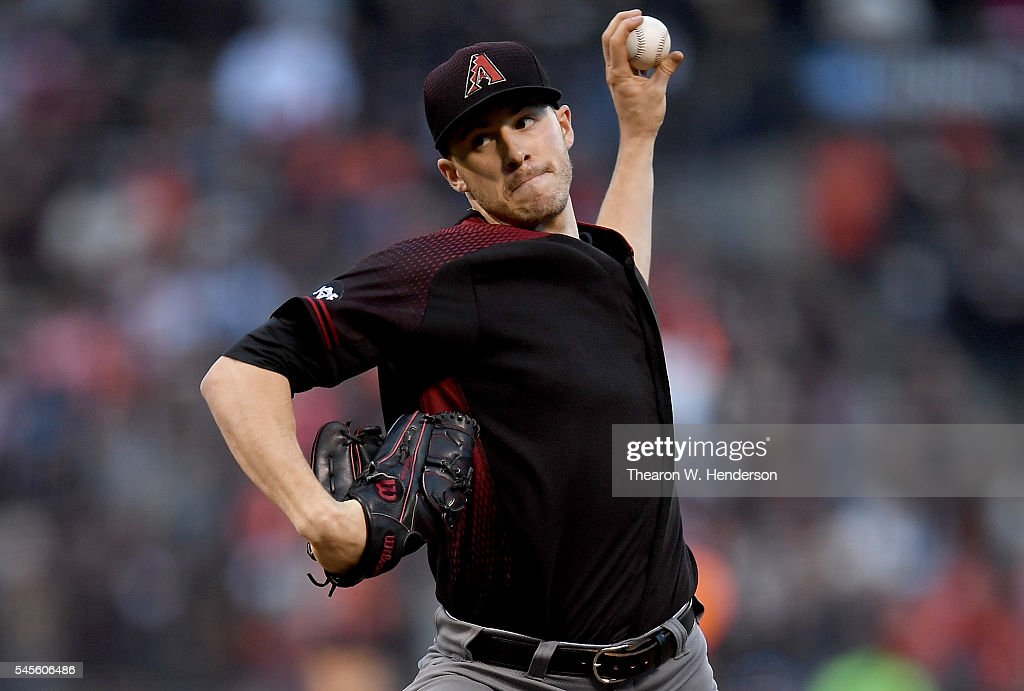 Patrick Corbin of the Arizona Diamondbacks pitches against the San Francisco Giants in the bottom of the second inning at ATT Park on July 8 2016 in...