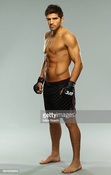 Patrick Cote poses for a portrait during a UFC photo session on April 13 2014 in Quebec City Quebec Canada