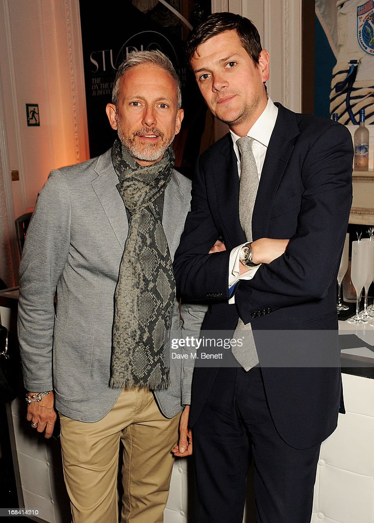 Patrick Cox (L) and Alexander Spencer Churchill attend the launch of Candy Magazine's Spring/Summer 2013 issue, supported by Grey Goose, at Il Bottaccio on May 9, 2013 in London, England.
