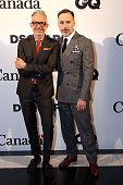 Patrick Cox and David Furnish attend Dsquared2's 20th anniversary celebration at Canada House cohosted by GQ at Canadian Embassy on June 13 2015 in...