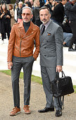 Patrick Cox and David Furnish attend the Burberry Prorsum show during London Fashion Week Spring/Summer 2016/17 at Kensington Gardens on September 21...