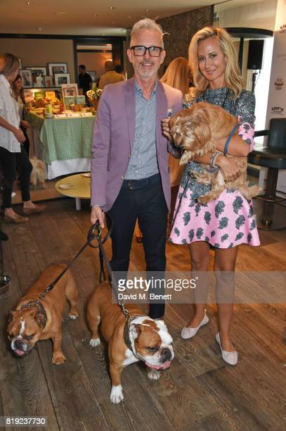 Patrick Cox and Lady Victoria Hervey attend the launch of Rosewood's Canine Luxury Experience and the Barbour Dogs Loyalty Scheme hosted by Rosewood...