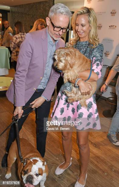 Patrick Cox and Lady Victoria Hervey attend the launch of Rosewood's Canine Luxury Experience hosted by Rosewood London and Barbour at Rosewood...