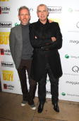 Patrick Cox and Neil Tennant attend the After party for the London Premiere of 'Nowhere Boy' hosted by Quintessentially at The House of St Barnabas...